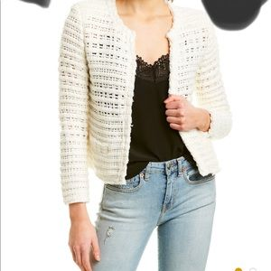 Iro open knit jacket size 44 ivory color.